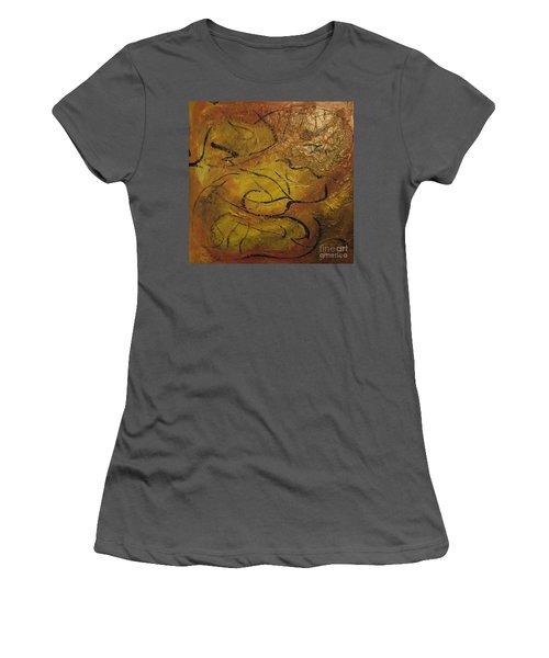Orange Souffle Women's T-Shirt (Athletic Fit)