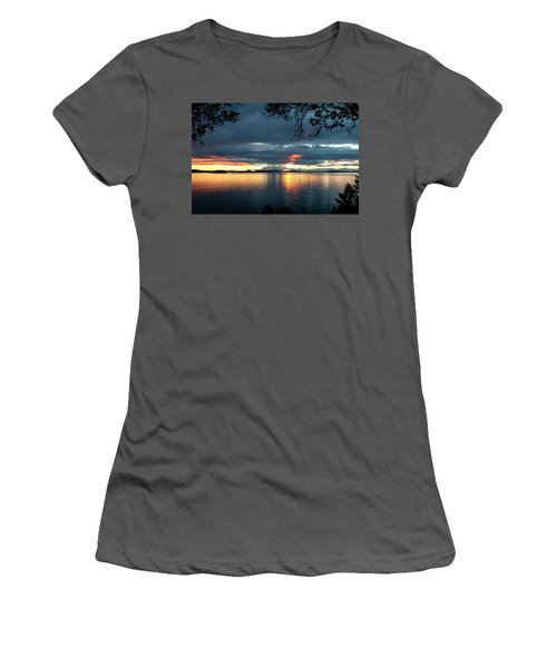 Orcas Island Sunset Women's T-Shirt (Athletic Fit)