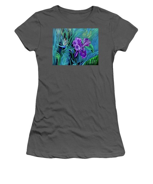 Orchid Jungle Women's T-Shirt (Athletic Fit)