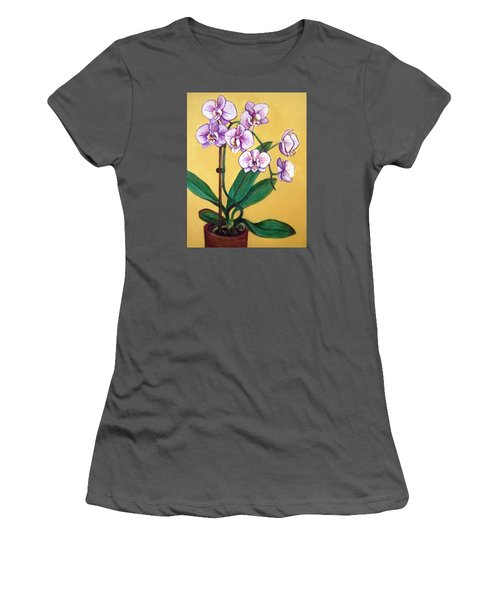 Orchids Women's T-Shirt (Junior Cut) by Laura Aceto
