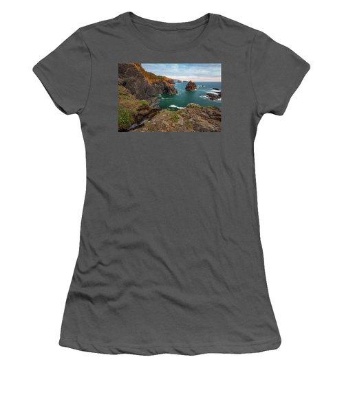 Women's T-Shirt (Junior Cut) featuring the photograph Oregon Coastal Scenic by Leland D Howard