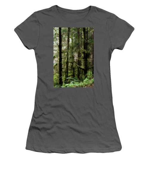 Oregon Old Growth Coastal Forest Women's T-Shirt (Athletic Fit)