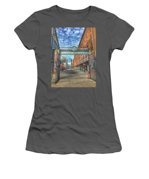 Oriole Park At Camden Yards - Eutaw Street Gate Women's T-Shirt (Athletic Fit)