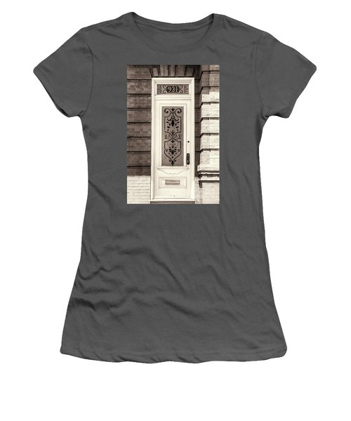 Ornate Glass Panel Women's T-Shirt (Athletic Fit)