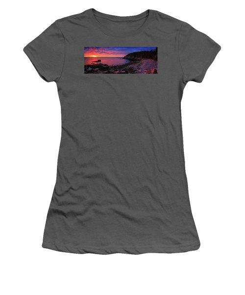 Women's T-Shirt (Junior Cut) featuring the photograph Otter Beach Maine Sunrise  by Emmanuel Panagiotakis