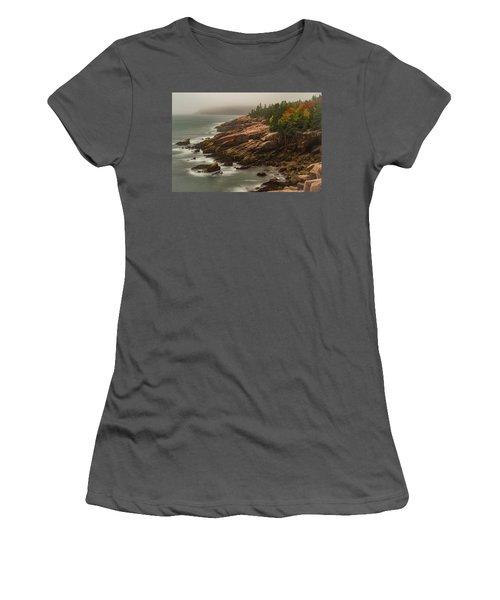 Otter Cliffs Women's T-Shirt (Athletic Fit)