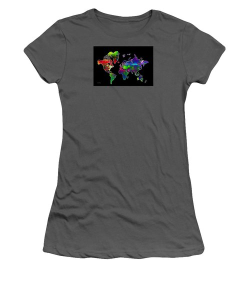 Our Colorful World Women's T-Shirt (Junior Cut) by Randi Grace Nilsberg