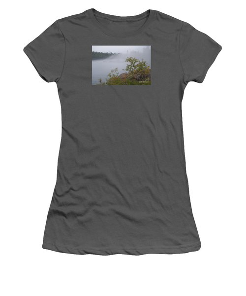 Women's T-Shirt (Junior Cut) featuring the photograph Out Of The Fog by Sandra Updyke
