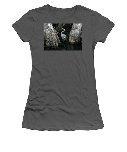 Out Standing In The Swamp Women's T-Shirt (Junior Cut) by Lamarre Labadie