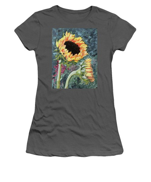 Outdoor Sunflowers Women's T-Shirt (Athletic Fit)