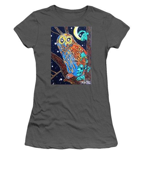 Owl Light Women's T-Shirt (Athletic Fit)