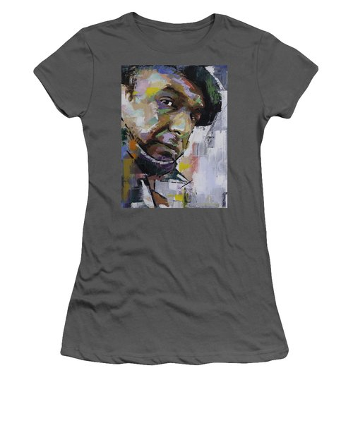 Women's T-Shirt (Junior Cut) featuring the painting Pablo Neruda by Richard Day