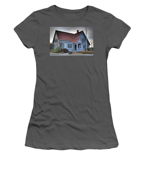 Painted Blue House Women's T-Shirt (Athletic Fit)