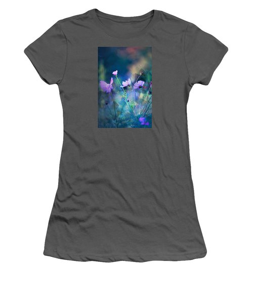 Painted Flowers Women's T-Shirt (Junior Cut) by John Rivera