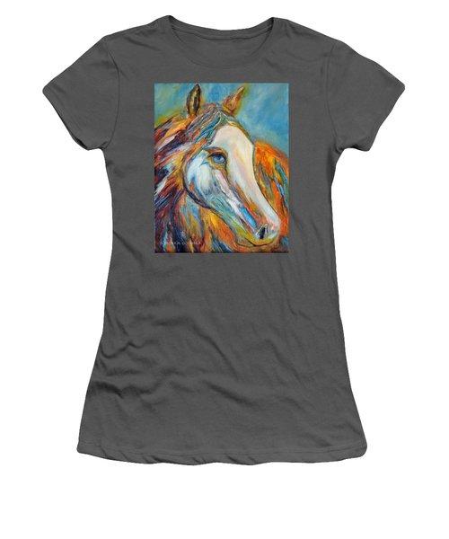 Painted Horse Sensation Women's T-Shirt (Junior Cut) by Jennifer Godshalk