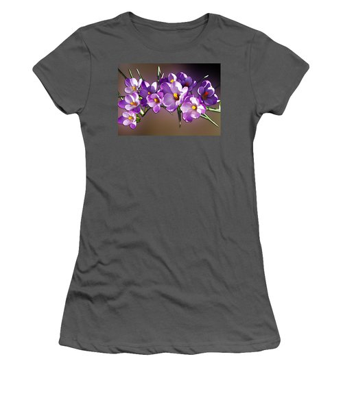 Painted Violets Women's T-Shirt (Junior Cut) by John Haldane