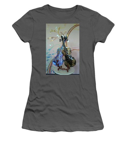 Painted Violins Women's T-Shirt (Athletic Fit)