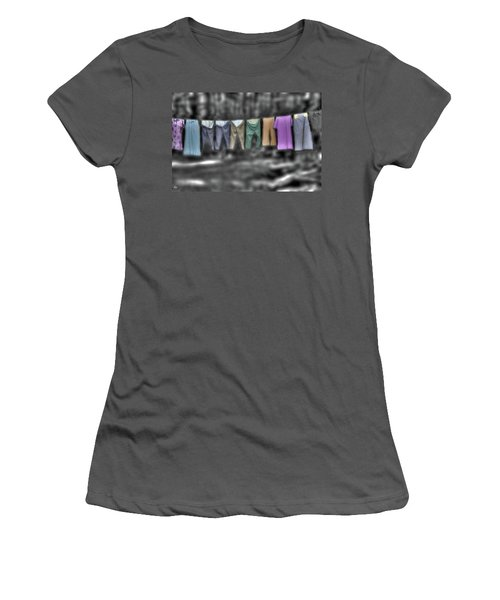 Painted Washline In Plymouth Nh Women's T-Shirt (Athletic Fit)