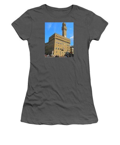 Palazzo Vecchio Florence Women's T-Shirt (Junior Cut) by Lisa Boyd