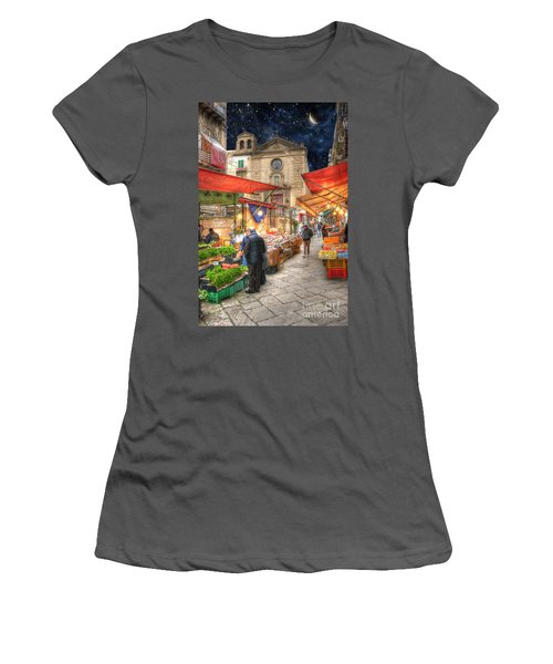 Palermo Market Place Women's T-Shirt (Junior Cut) by Juli Scalzi