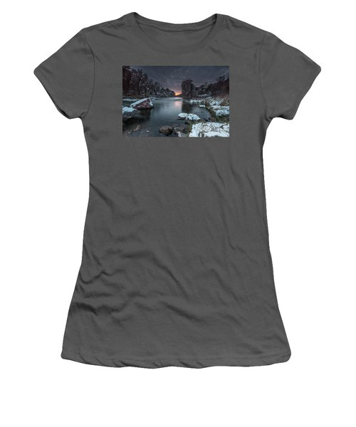 Palisades First Snow Women's T-Shirt (Athletic Fit)