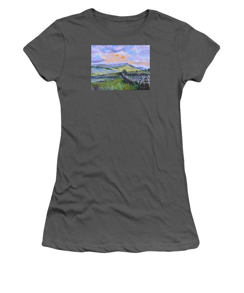 Pallet Knife Sunset Women's T-Shirt (Athletic Fit)