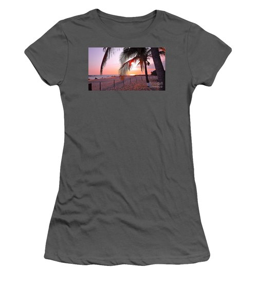 Palm Collection - Sunset Women's T-Shirt (Junior Cut) by Victor K
