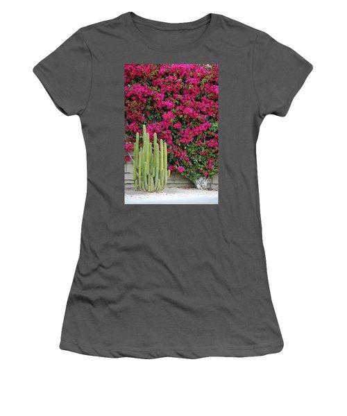 Palm Desert Blooms Women's T-Shirt (Athletic Fit)