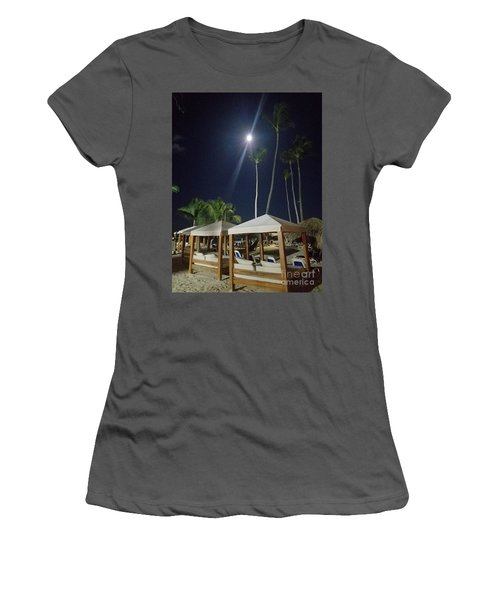 Palm Moon Women's T-Shirt (Athletic Fit)