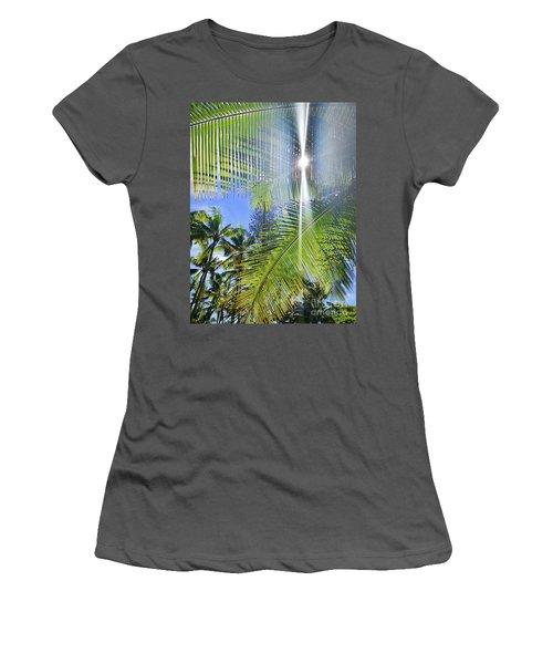 Palm Paradise Women's T-Shirt (Athletic Fit)