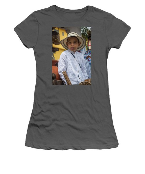 Panamanian Boy On Float In Parade Women's T-Shirt (Athletic Fit)