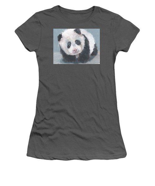 Panda For Panda Women's T-Shirt (Junior Cut) by Jessmyne Stephenson