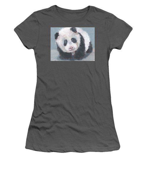 Panda For Panda Women's T-Shirt (Athletic Fit)