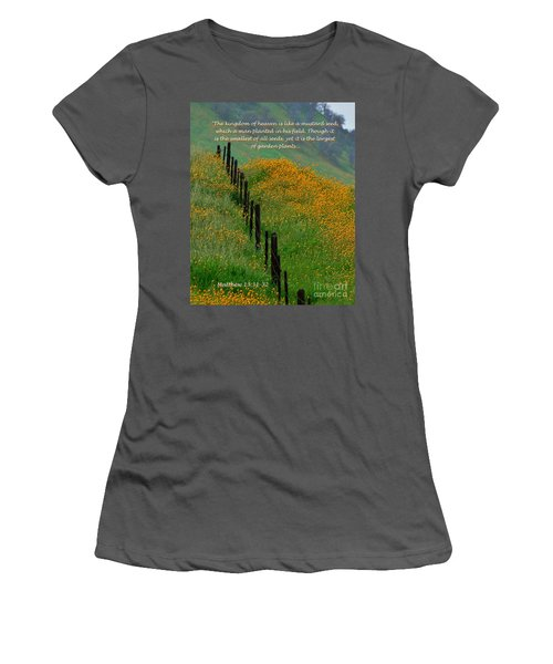 Women's T-Shirt (Junior Cut) featuring the photograph Parable Of The Mustard Seed by Debby Pueschel