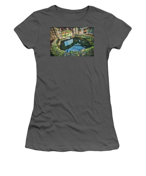 Paradise Springs- Spring House - Kettle Moraine State Forest Women's T-Shirt (Junior Cut) by Jennifer Rondinelli Reilly - Fine Art Photography
