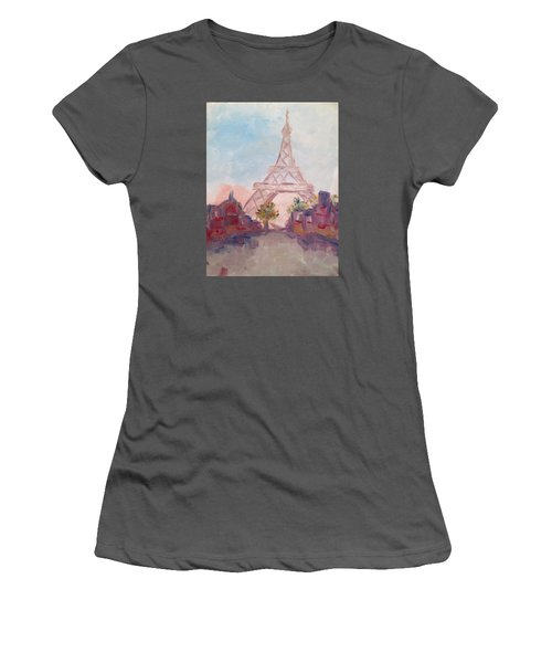 Paris In Pastel Women's T-Shirt (Junior Cut) by Roxy Rich