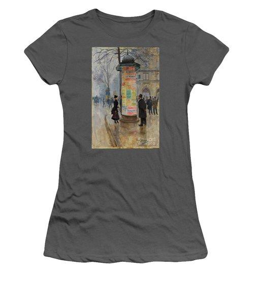 Women's T-Shirt (Junior Cut) featuring the photograph Parisian Street Scene by John Stephens