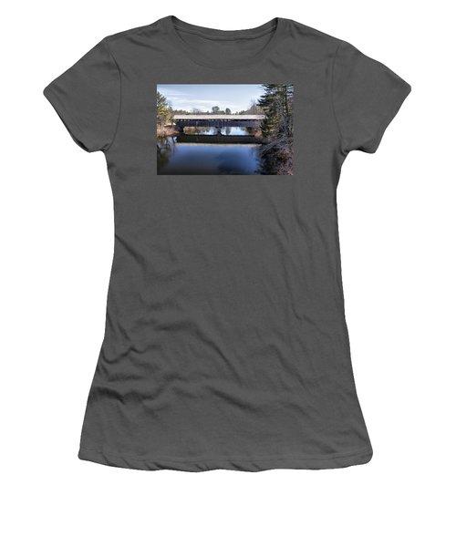 Parsonfield Porter Covered Bridge Women's T-Shirt (Athletic Fit)