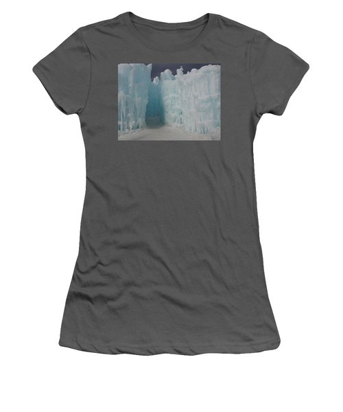 Passageway In The Ice Castle Women's T-Shirt (Junior Cut) by Catherine Gagne