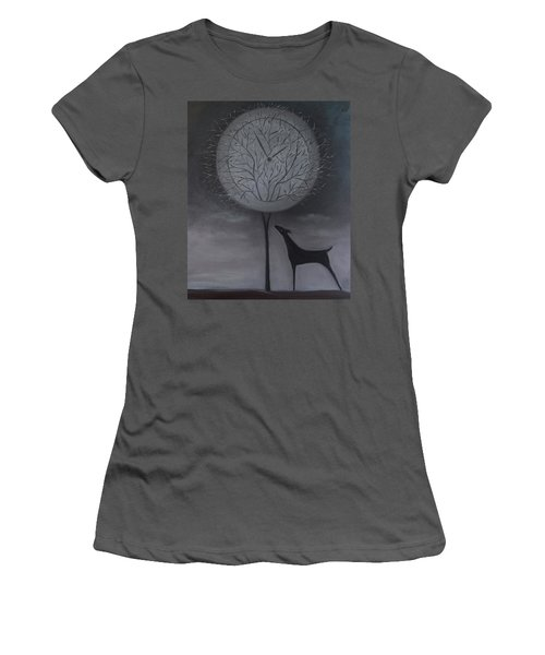 Women's T-Shirt (Junior Cut) featuring the painting Passing Time by Tone Aanderaa