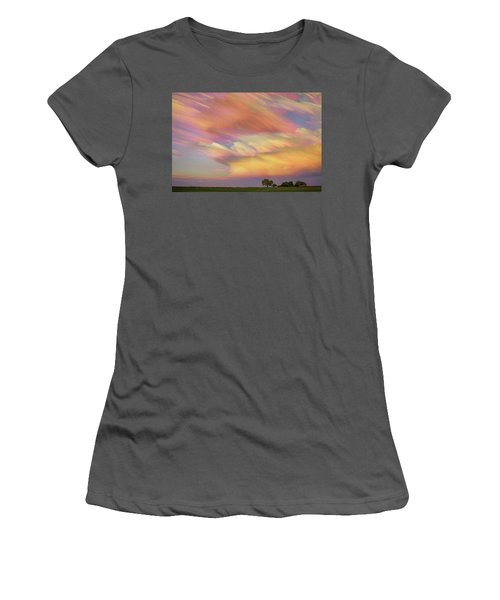 Women's T-Shirt (Junior Cut) featuring the photograph Pastel Painted Big Country Sky by James BO Insogna