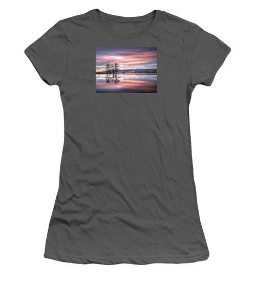 Pastel Sunrise Women's T-Shirt (Junior Cut) by Fiskr Larsen