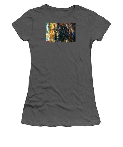 Patchworks 5 Women's T-Shirt (Junior Cut) by Newel Hunter