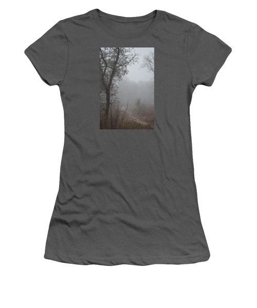 Women's T-Shirt (Junior Cut) featuring the photograph Pathway In The Fogs Of Life by Carolina Liechtenstein