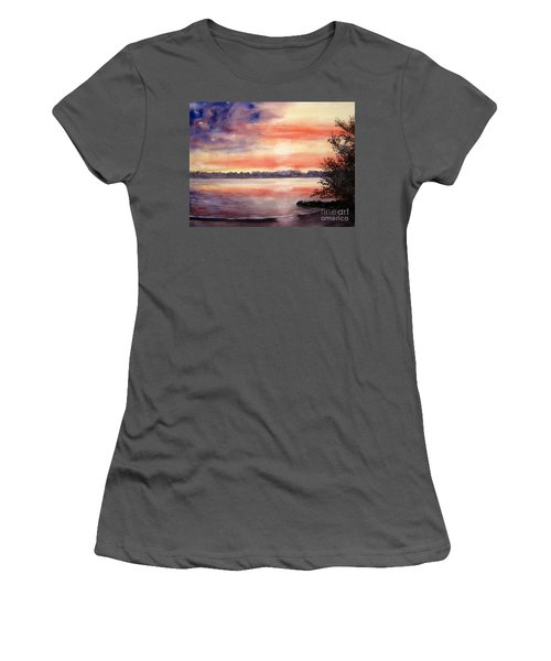 Patriotic Windjammer Sky Women's T-Shirt (Athletic Fit)