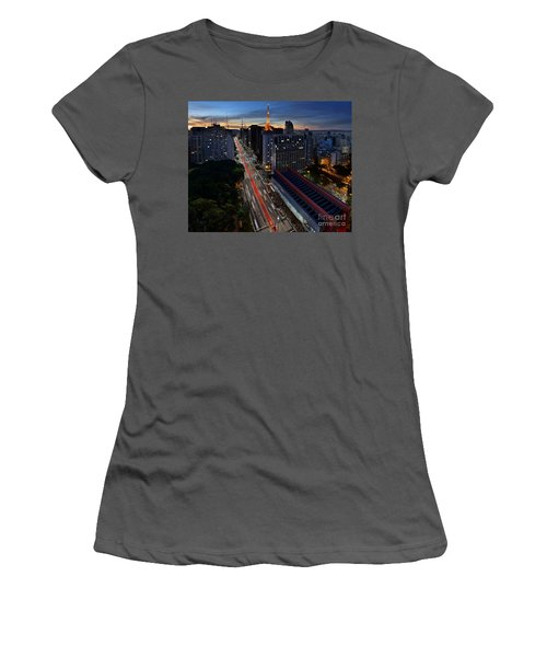 Paulista Avenue And Masp At Dusk - Sao Paulo - Brazil Women's T-Shirt (Athletic Fit)