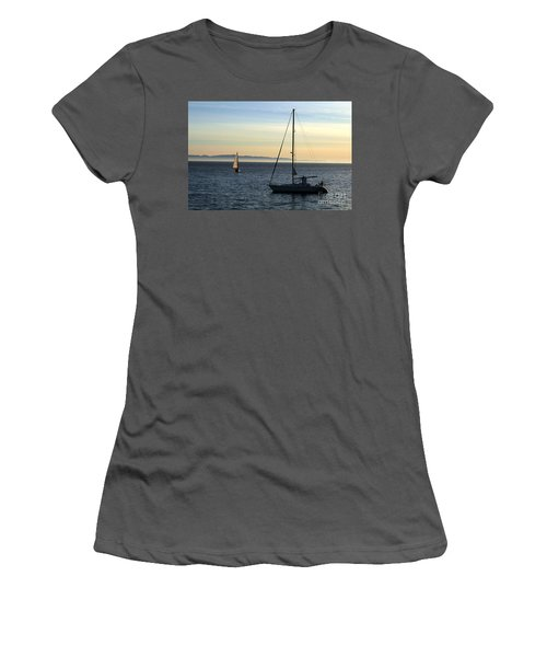 Peaceful Day In Santa Barbara Women's T-Shirt (Junior Cut) by Clayton Bruster