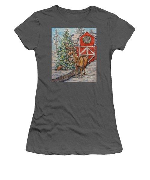 Peaceful Noel Women's T-Shirt (Athletic Fit)