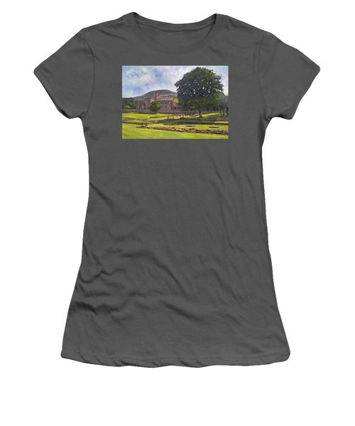 Peaceful Retreat - Melrose Abbey  Women's T-Shirt (Athletic Fit)