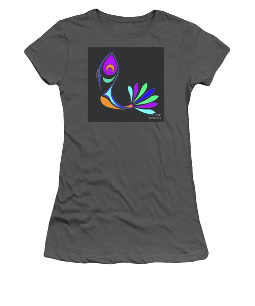 Peacock Impressions Women's T-Shirt (Athletic Fit)